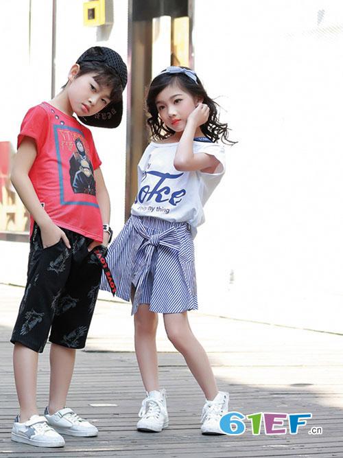 欢乐暑假 淘气贝贝童装和你一起描绘美好色彩