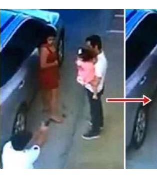 巴西律师遭杀手枪害  冷静安顿好女儿后下跪受死