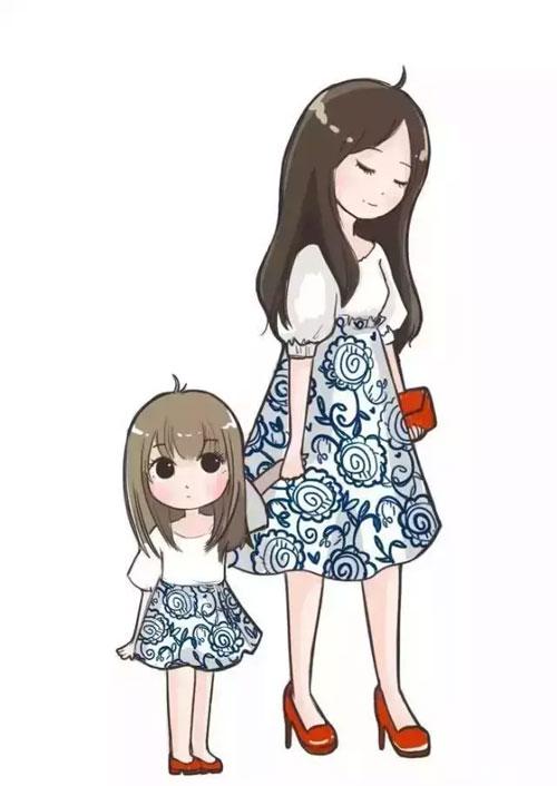 夏天最浪漫的事就是生个女儿 然后一起穿成这样