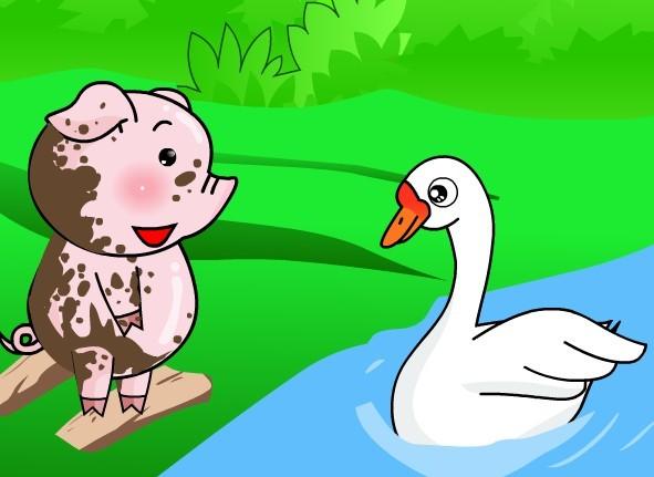听1001夜童话童装讲故事 小猪变干净了图片