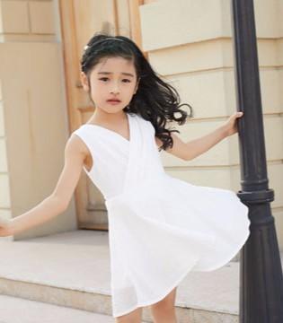 叽叽哇哇童装2018夏季连衣裙搭配  甜美可爱