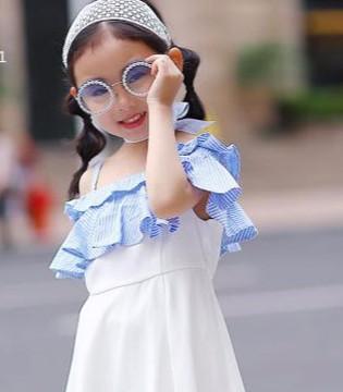 小象Q比时尚甜美女童连衣裙 小公主的必备哦