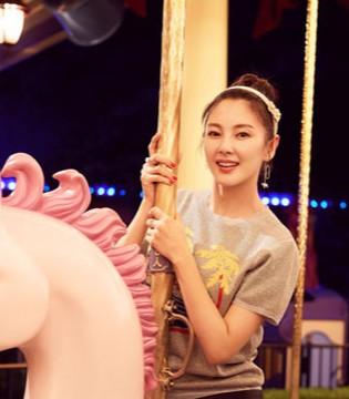 张雨绮生日游玩迪士尼少女心满满   卖萌不停歇