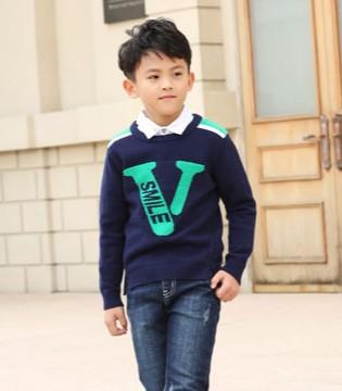 可趣可奇时尚有型套头衫 为小帅哥时髦加分
