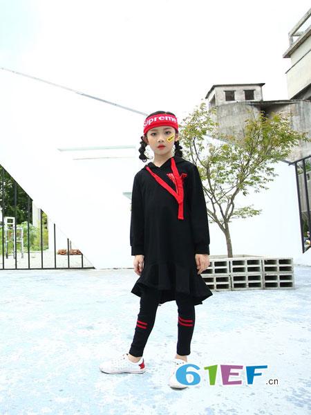下一个奇迹:黑色+红色=2018秋季儿童外套搭配!