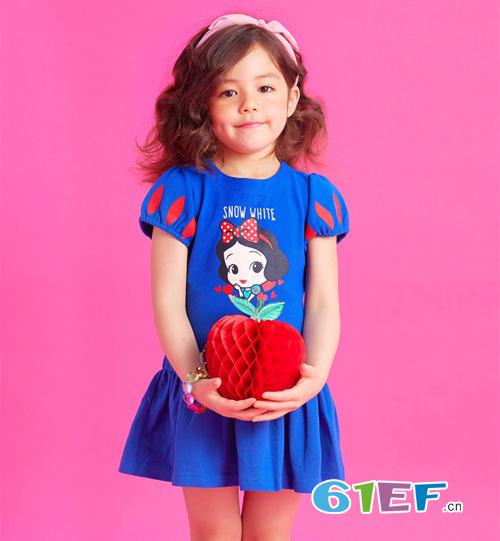韩国eland童装连衣裙  轻松打造甜美小公主
