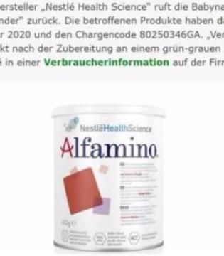 洋奶粉也不安全? 雀巢在德国紧急召回问题奶粉