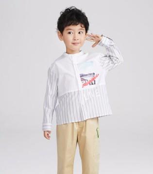 立领衬衣的优点  让宝贝穿上更显帅气个性