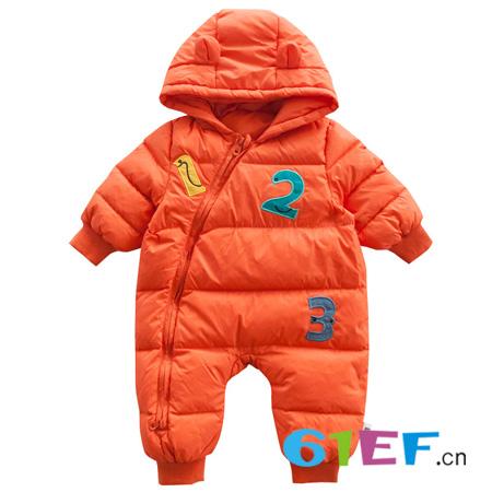 婴儿羽绒服连体衣 萌宝穿着不怕冷