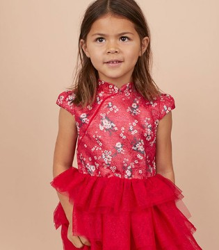 瑞典快时尚品牌H&M全新上市的红色新年装细节赏析