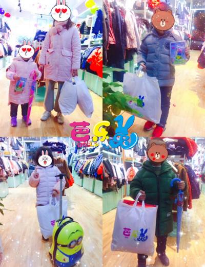 芭乐兔童装加盟:【买家秀实拍】顾客成套购买的童装