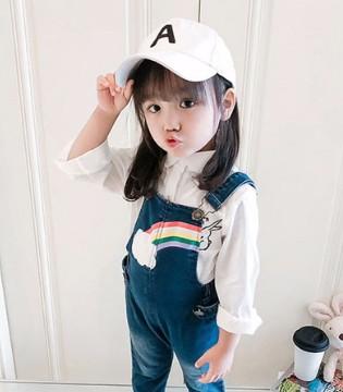 女童牛仔背带裤 怎么穿都能好看又时髦
