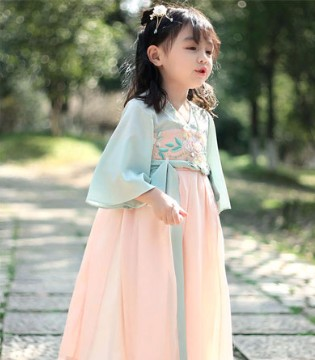 春季女童�h服 �p松塑造古典小美人