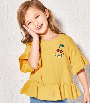 女童夏季短袖T恤�r尚穿搭  就是�@么有潮味