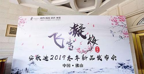 笃实-飞雪凝梅|安歌迪2019冬年装新品发布会精彩花絮