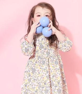 女童印花连衣裙 做个灵动俏皮小仙女