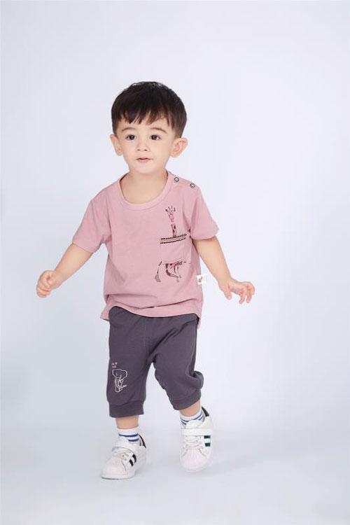 波波龙男童时尚T恤  做个满分元气 BOY