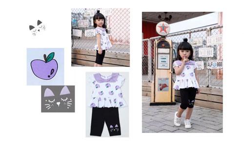 """嗒嘀嗒童装  这个夏天就要""""这样紫""""~"""