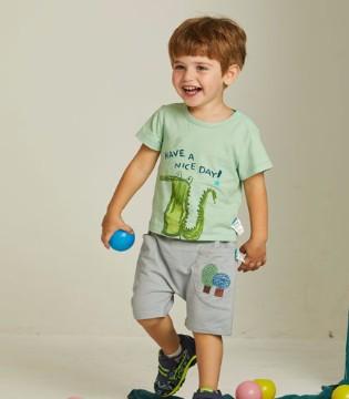 欧布豆男童短袖T恤 轻松打造休闲时尚小潮童