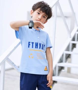 TUTU Tips图零钱男童短袖T恤 轻松打造夏日小潮童