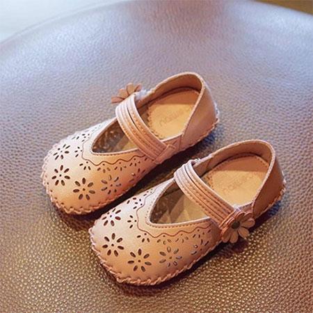 公主风宝宝学步鞋  镂空设计更时尚