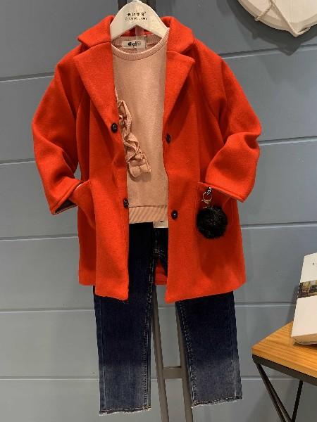 世纪童话童装毛呢大衣穿上身 冬季时髦大升温