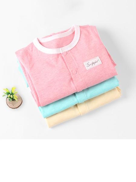 素羽佳童装品牌2019春夏新品婴儿空调服连体衣