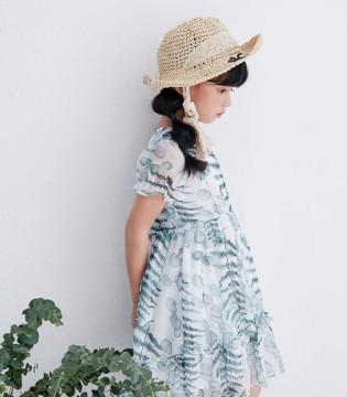 DIZAI女童连衣裙 装扮宝贝的甜美清新感