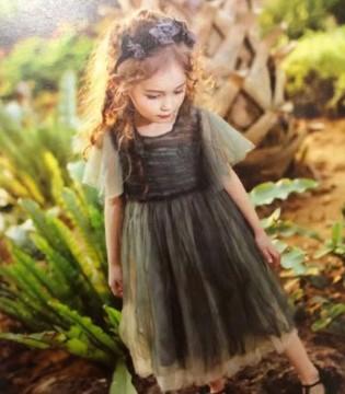 魔方女童连衣裙 犹如落入凡间的精灵