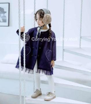 新品 天空之城童装秋冬外套 蓬纱质俏皮公主外套