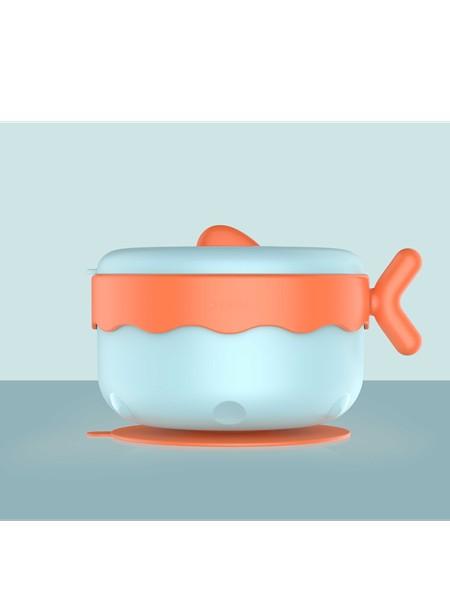 长效保温 快速降温 爱上吃辅食 儿童辅食碗 宝宝辅食碗 不锈钢 宝宝不锈钢餐具 套装 儿童碗 防摔 家用 注水保温碗 儿童隔热碗