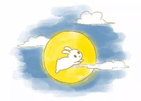 """秋暮夕月 小棉童送你一只""""小棉玉兔""""齐赏月"""