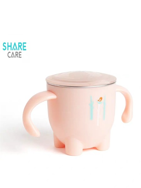 Sharecare宝宝316L不锈钢幼儿园家用杯子儿童防摔牛奶杯双层隔热