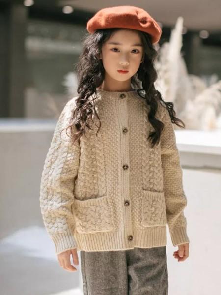 Outride越也  童装品牌2019秋冬新品针织开衫外套