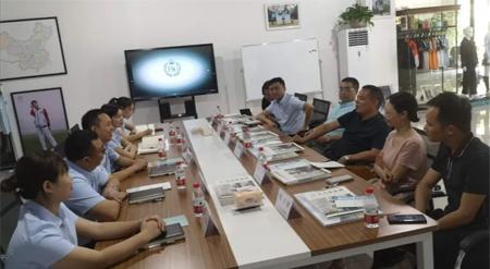 四川广安区委常委兰新明 一行前往法诗顿服饰集团考察
