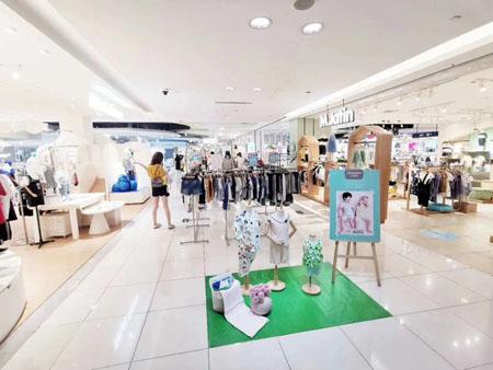祝贺久岁伴童装品牌浙江江东银泰店顺利开业