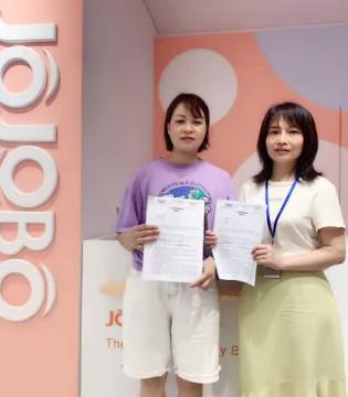 热烈祝贺J0J0B0啾比乐贵州兴义形象店签约成功