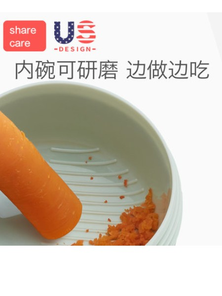sharecare儿童餐具宝宝注水保温碗保温防烫婴儿多功能辅食碗研磨碗