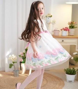 安妮公主童装6月夏公主裙 美不过绣球花
