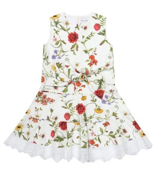 Oscar de la Renta 夏日花卉裙 让你成为路过的风景