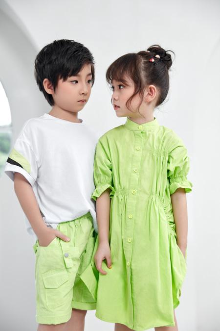 COOL色点亮潮童时尚 爱上夏天的果绿色