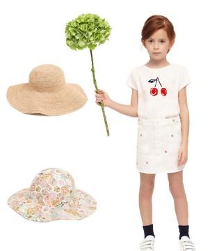 Bonpoint 好物清单 碎花泳衣 太阳帽 太阳镜