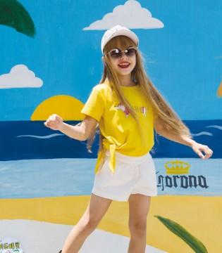 俏皮的快乐精灵童装 有着夏天轻盈灵动的美