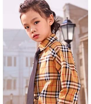 JOJOKIDS:亮闪闪的格纹衬衫 我爱了!