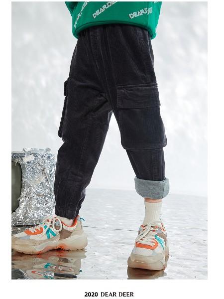 迪迪鹿男童工装裤2020冬季新款灯芯绒夹棉保暖休闲裤儿童裤子加厚
