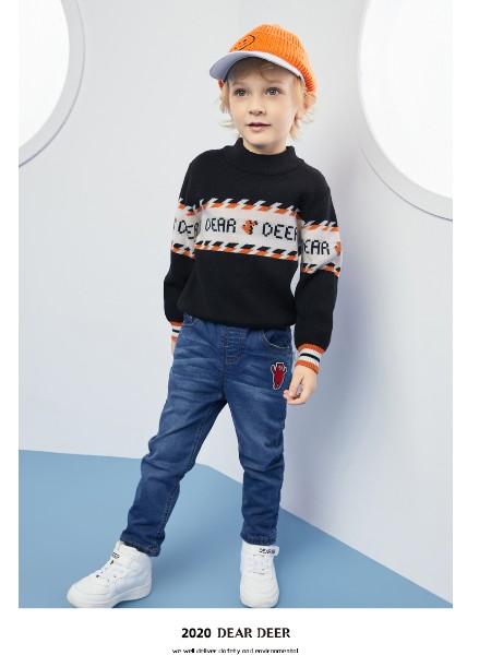 迪迪鹿男小童线衫2020秋冬新款男宝宝韩版套头毛衣儿童洋气毛衫潮