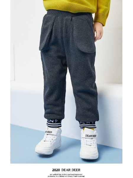 迪迪鹿男小童长裤2020冬装新款男宝宝韩版休闲裤儿童洋气裤子加厚