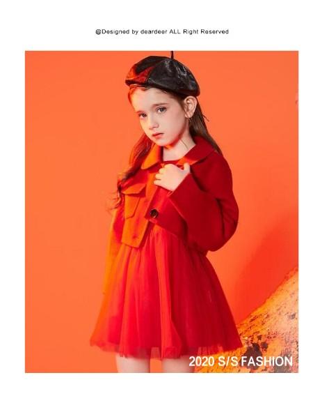 女童呢大衣套装2020冬装新款女中大童韩版公主风裙子两件套