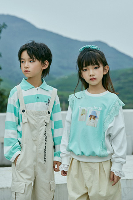 洛小米春夏新品 纯真的童年 清新的色彩
