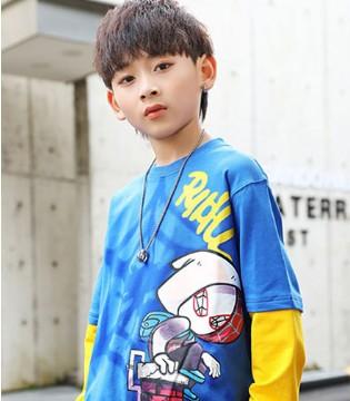 123童装春夏新品 冷酷时尚的潮流少年